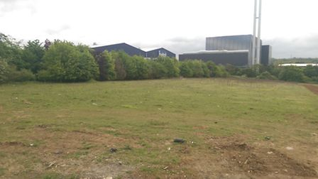 The proposed site for the St James' Business and Logistics Park at Great Blakenham.
