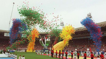 File photo dated 08/06/1996 of thousands of balloons being released to mark the start of Euro 96 at