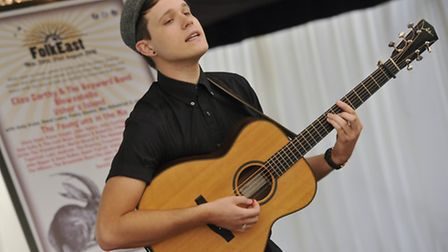 Luke Jackson performs at the event.