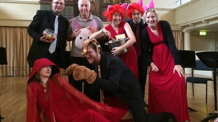 The Galliard Ensemble perform The Three Little Pigs Family Concert