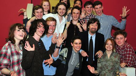 Sir Trevor Nunn with members of the New Wolsey's Young Company