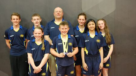 The Lowestoft and Oulton Broad squad which attended the regional championships in May