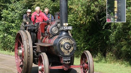 A whistle was stolen from a steam engine at a Suffolk museum