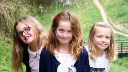 Framlingham Gala Princesses, pictured left to right, Maisie Pendle,Kiara Hambling and Amber Whitting