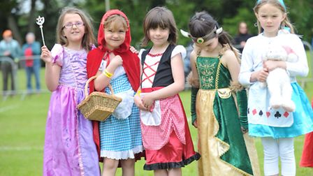 Some of the youngsters who dressed up for last year's Framlingham Gala