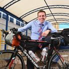 Chris Webster, a geography teacher at Bungay High School, is cycling across Iceland to raise money t