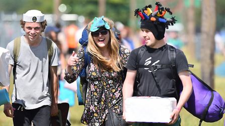 Latitude Festival 2016 at Henham Park in Suffolk. Arrivals day at the site. Picture: James Bass