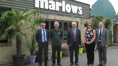 James Dilley, left, and other members of the management team following last year's acquisition of Ma