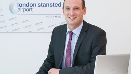 James Dix, finance director at Stansted Airport.