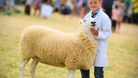 Tendring Show, Lawford House Park, Manningtree. Pictured is Tom Lugsden. Young Handler winner.