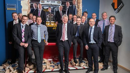Chief executive Richard Neall with other members of the management tream at One Group Construction.