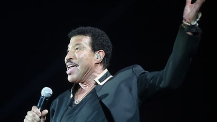 Lionel Richie on stage in Colchester
