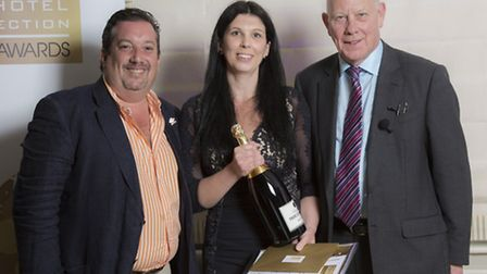 Jenny Hill, systerms and administration manager at TA Hotel Collection, receives her Managing Direct