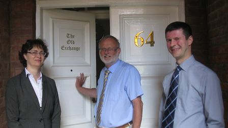 From left, Rachel Skells, Tim Moriarty and Michael Greene, partners at Whittles Chartered Accountant