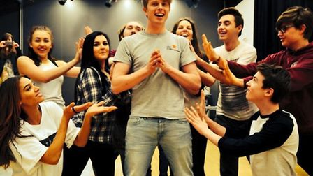Eastern Edge Theatre Company, set up by Charlie Pittman, rehearse new musical Bridge Over Oblivion.