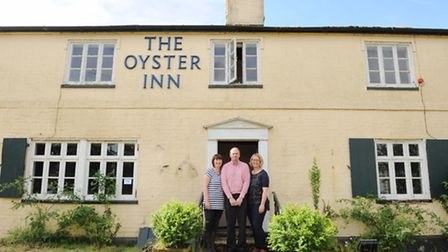 The Oyster Inn at Butley will be re opening next year. L-R Tracy and Rob Butcher,Judi Newman.