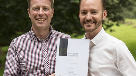 Ashtons Legal chief executive Edward O�Rourke and HR director Antony Sloan with the firm's Gold Inve