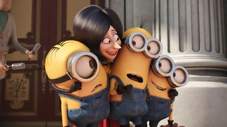 Open-air cinema with Minions