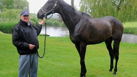 Pat Betts from Framlingham with Le Reve who won best shod horse at the Grand National.