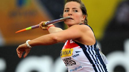 Suffolk's Goldie Sayers in action for Team GB
