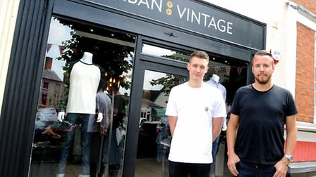 Laurence Johnson and Daniel Le Sauvage of Urban Vintage in Framlingham.
