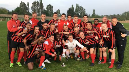 Olly Murs and Coggeshall Town FC. Photo: Paul Hammond