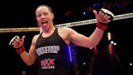 Kerry Hughes fights in the main event of BCMMA 16 in Colchester on Saturday