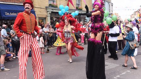 Parade to mark the opening of the Southwold Arts Festival