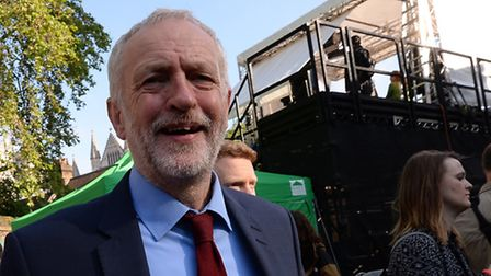 Labour Party leader Jeremy Corbyn on College Green in Westminster, London, after Britain voted to le