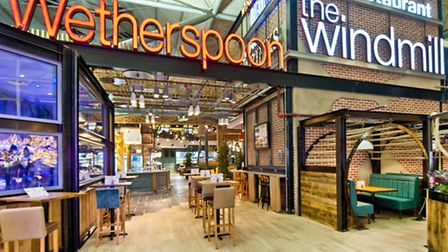 The Windmill, JD Wetherspoon's pub at Stansted Airport.