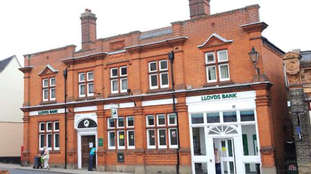 A Lloyds Bank branch in Halesworth. Lloyds Banking Group has announced it will close 200 branches an