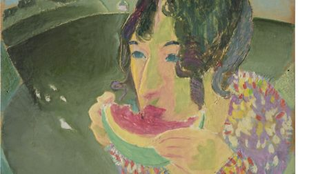 Jeffery Camp, portrait of Laetitia. Part of the collection of art collector and critic Andrew Lambir
