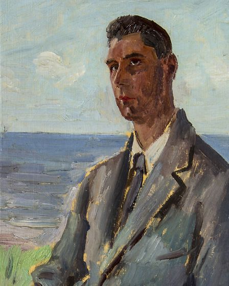 Augustus John, Portrait of TW Earp. Part of the collection of art collector and critic Andrew Lambir