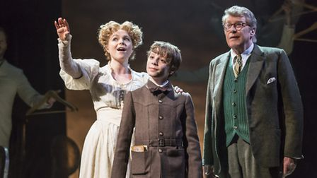 Gemma Sutton, William Thompson and Michael Crawford in The Go-Between. Photo: Johan Persson