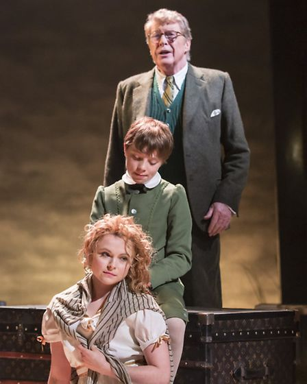 Michael Crawford, William Thompson and Gemma Sutton in The Go-Between. Photo: Johan Persson
