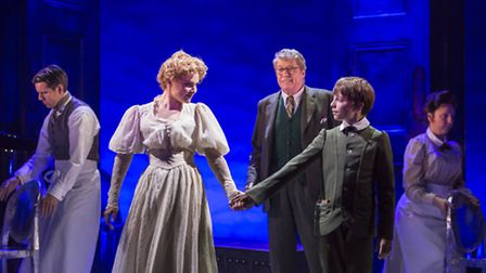 Gemma Sutton, Michael Crawford and William Thompson in The Go-Between. Photo: Johan Persson