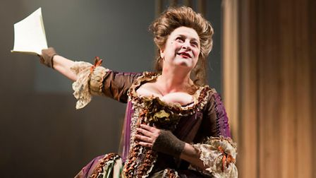 Caroline Quentin in 'The Life and Times of Fanny Hill' Bristol old Vic 2915.