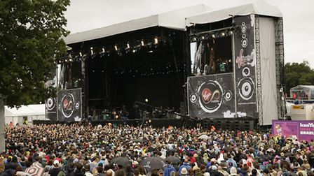 General view of the main stage at the V Festival at Hylands Park in Chelmsford, Essex. PRESS ASSOCIA