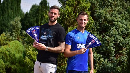Ipswich Town players Daryl Murphy and Tommy Smith ahead of the Ipswich v Norwich match on Sunday 21s