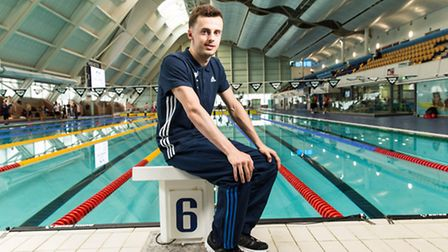 Ryan Crouch during the ParalympicsGB Swimming Team Announcement at Manchester Aquatics Centre. Photo