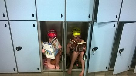 The winner of the Get Caught Reading competition was Amanda Williams who sent in a photo of her daug