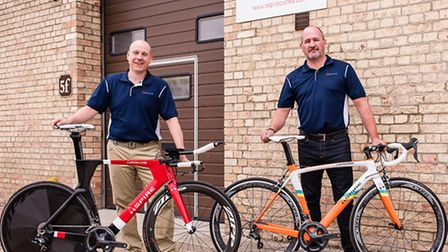 Jason Battle and Jamie Warner, the founders of Aspire Cycles.