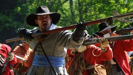 English Civil War re-enactors Sealed Knot head to the Museum of East Anglian Life's living history e