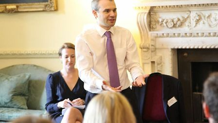 Tim Kiddell CBE, private secretary (speechwriter) to the Prime Minister addressing a conference of y