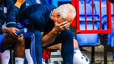 Ipswich Town manager Mick McCarthy can't hide his frustration during the pre-season defeat to Royale