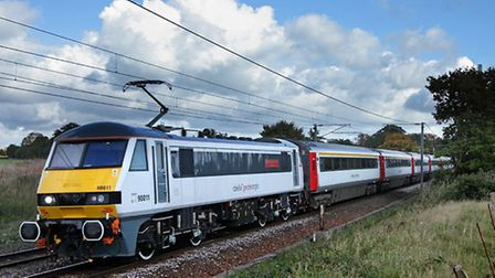 Stock East Anglian train picture.