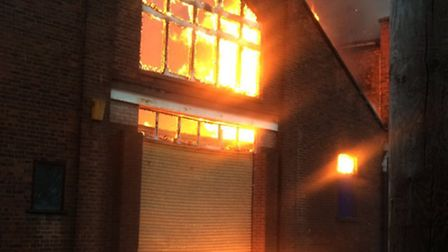 The fire at Regent Superbow in Regent Road, Great Yarmouth. Picture: Andy Cranefield @AndyAc76
