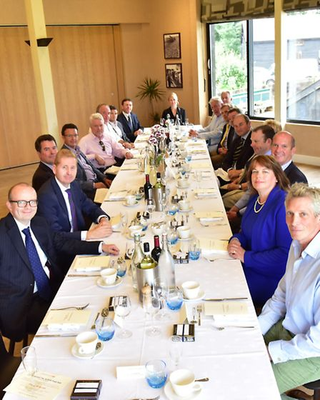 Leaders from the regions food and drink industry got together at a lunch organised by LinksEast at t