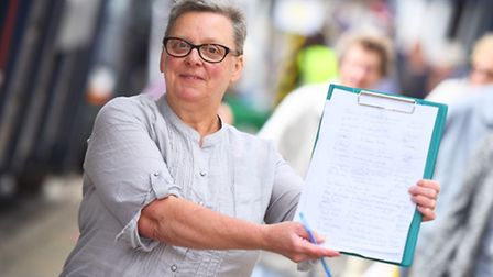 Teresa Bishop - leader of new Sudbury protest group Save Our Bus Station (SOBS) - is out collecting