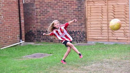 Evie plays for Felixstowe and Walton United.